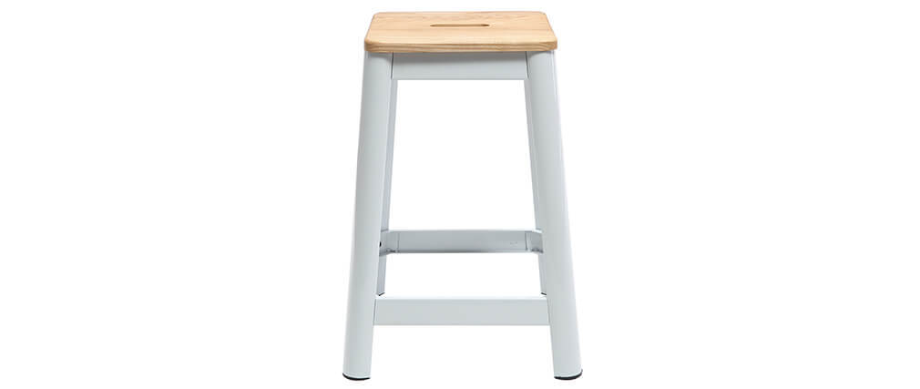 NICK white designer bar stool 65cm