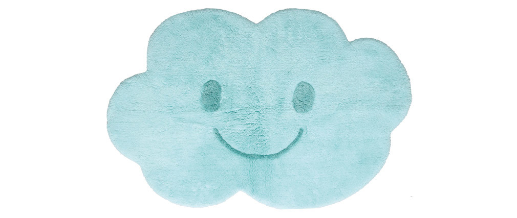 NIMBUS washable blue cotton children?s rug 75x115cm