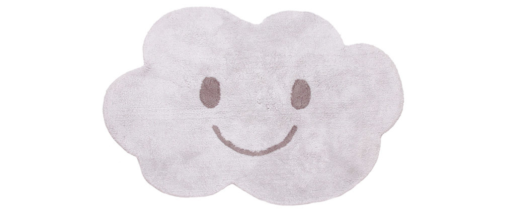 NIMBUS washable grey cotton children?s rug 75x115cm