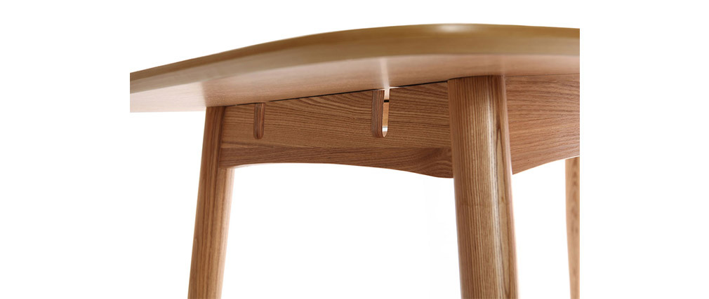 NORDECO Natural Ash Wood Extending Dining Table L130-160