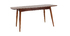 NORDECO natural walnut extending dining table L130-160