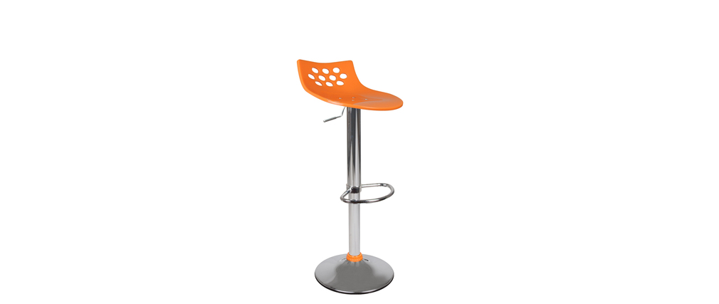 Orange bar stool up to you Magellan
