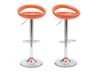 Orange Modern Bar/Kitchen Stool COMET (set of 2))
