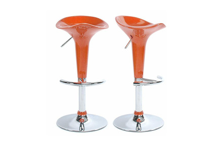 Orange Modern Bar/ Kitchen Stool GALAXY (set of 2)