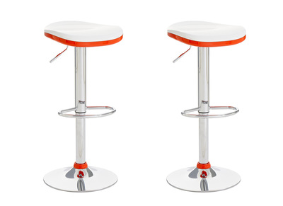 Orange Modern Bar Stool NED (set of 2)