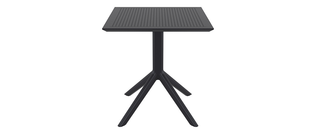 OSKOL black designer square dining table for inside and outside