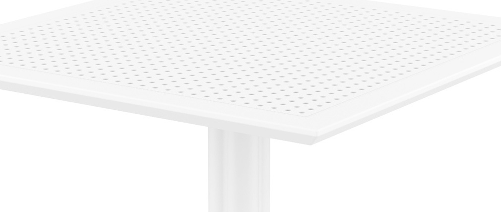 OSKOL white designer square dining table for inside and outside