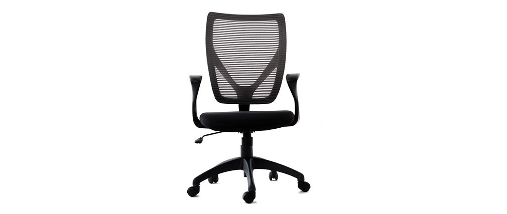 PAOLO grey and black designer office chair