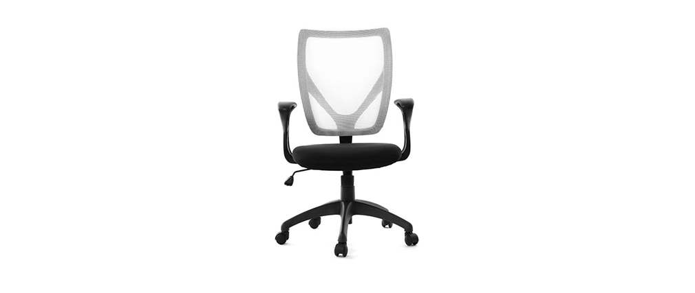 PAOLO white and black designer office chair