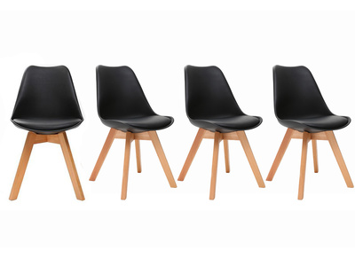 PAULINE Black Modern Chair (set of 4)