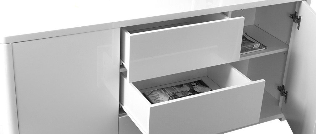 PAX Glossy White Sideboard