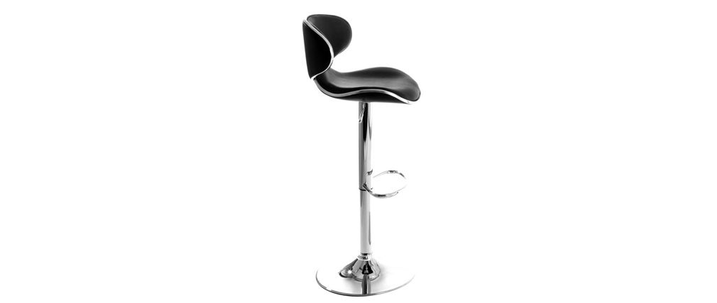 PEGASUS Black Modern Bar Stool (set of 2)