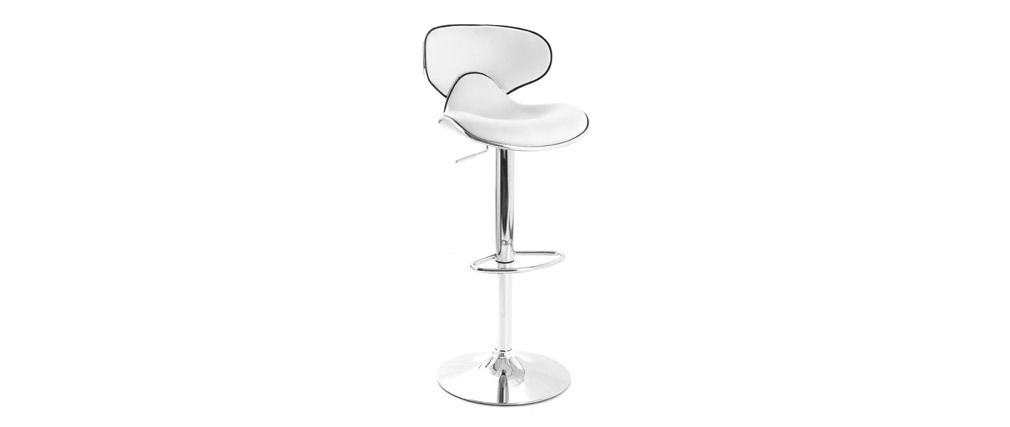 PEGASUS White Modern Bar Stool (set of 2)