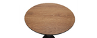 PENCO round wooden and black standing table