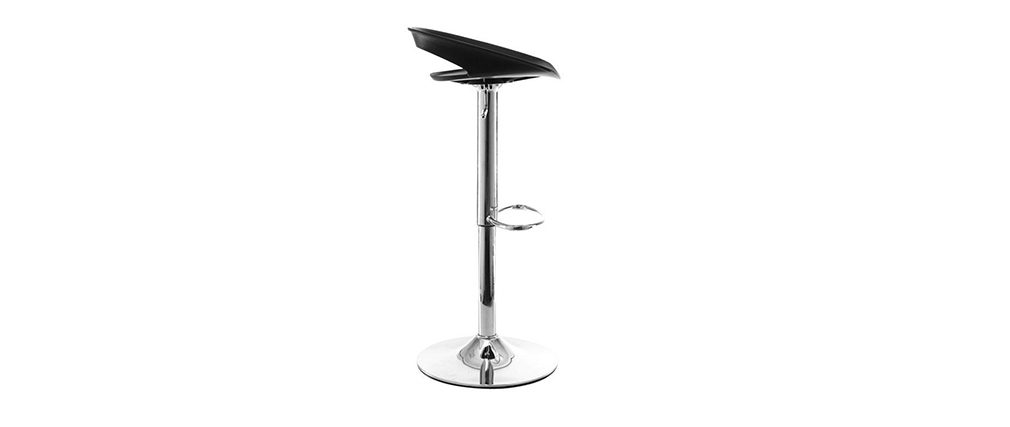 PHENIX Black Modern Bar Stool (set of 2)