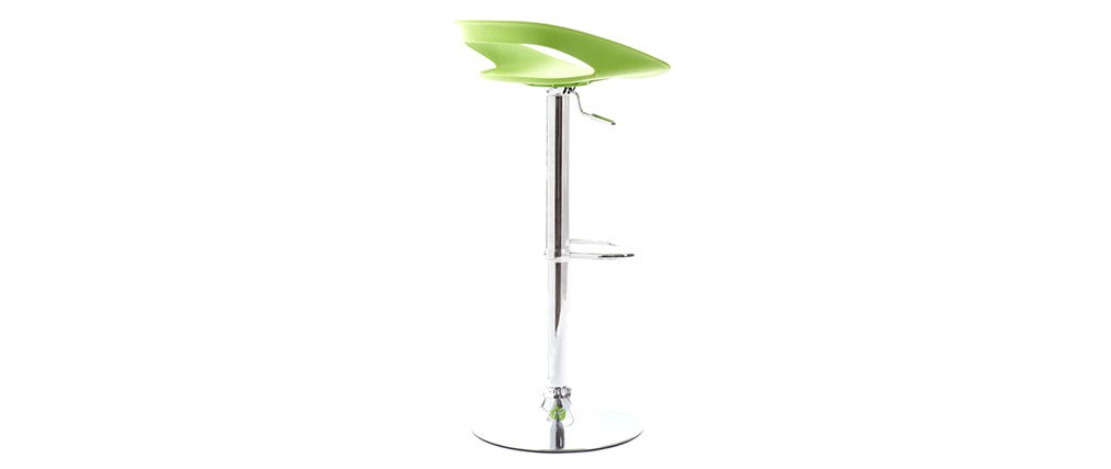 PHENIX Green Modern Bar Stool (set of 2)