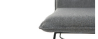 PILO armchair in dark grey fabric and black metal frame