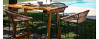 Pine and teak bar table BELLINI