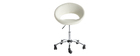 PINTO white designer office chair with wheels
