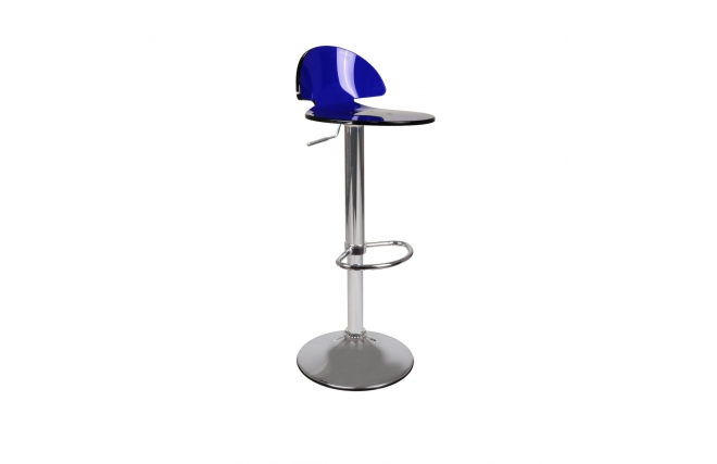 Plexiglas ORION bar stool - blue