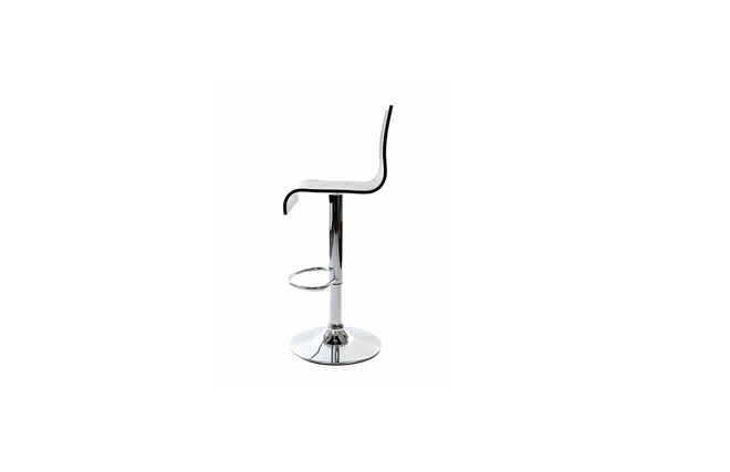 Plexiglas SATURNE bar stool - black