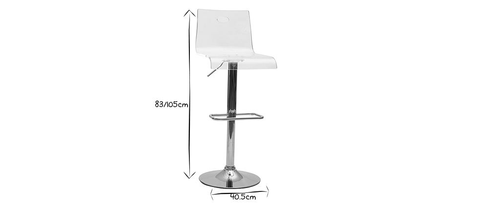 Plexiglas SATURNE bar stool - transparent