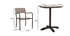 PUB garden set with 2 chairs and bistro table in black and wood