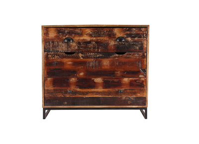 Recycled Wood 3 Drawer Chest MADRAS