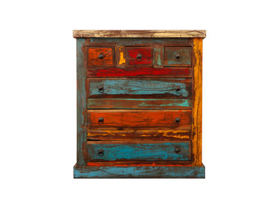 Recycled Wood Chest of Drawers MIQUELON