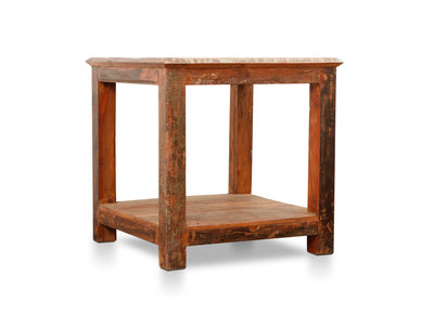 Recycled Wood Coffee/Side Table LANDES