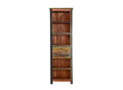 Recycled Wood Design Bookcase MAYOTTE