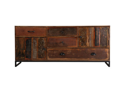 Recycled Wood Sideboard MADRAS 150cm