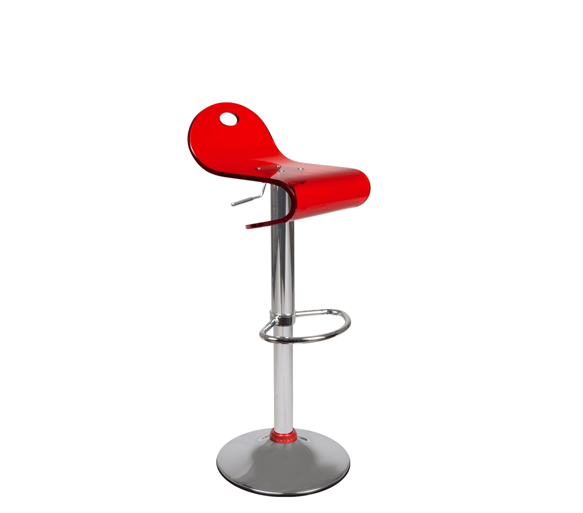 Red bar stool up to you Celeste