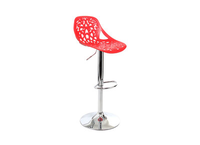 Red Baroque Design Bar Stool BAROCCA