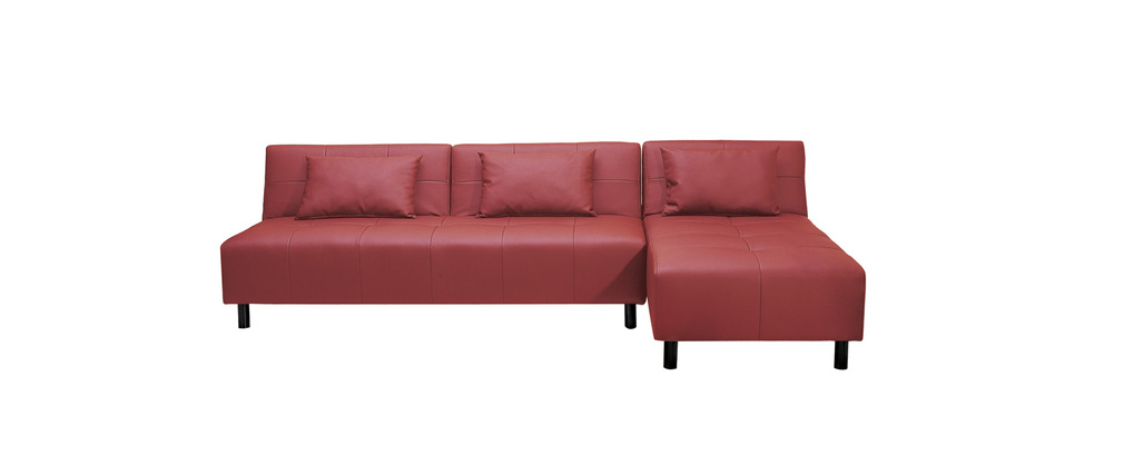 Red corner sofa bed in faux leather HOUSTON Miliboo : red corner sofa bed in faux leather houston 10932 10932 110104270 from www.miliboo.co.uk size 1010 x 427 jpeg 16kB