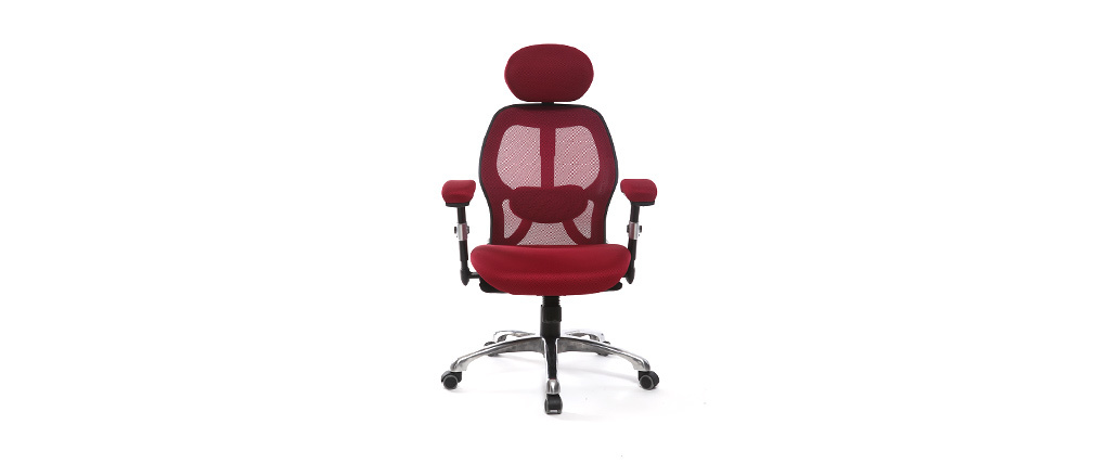 Red ergonomic office chair ULTIMATE V2 plus
