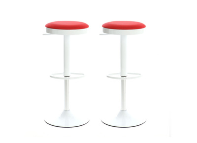 Red modern Bar Stool JANUS (set of 2)