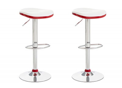Red Modern Bar Stool NED (set of 2)