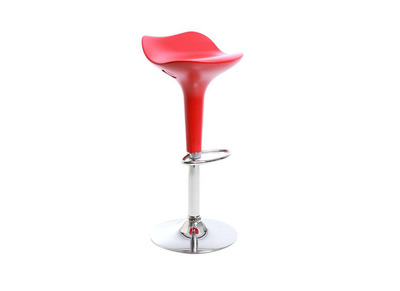 Red Modern Bar Stool URANUS