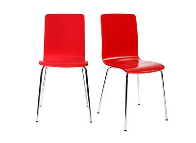 Red Modern Kitchen Chair NELLY (set of 2)