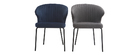 REQUIEM designer dark grey fabric chair