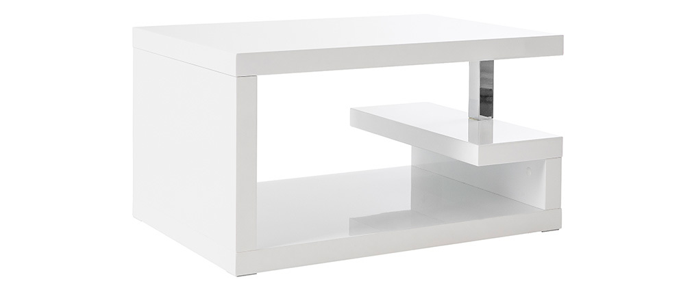 REX Glossy White Modern Coffee Table