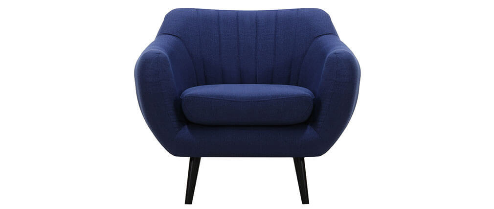 RICHIE designer armchair in electric blue