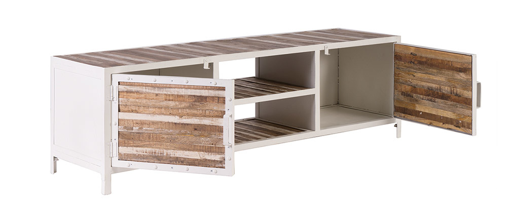 ROCHELLE Wood and Metal TV Stand (150 cm)