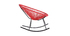 Rocking chair in red wire resin BELLAVISTA