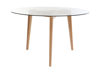 Round dining table glass top diameter 125 cm DAVOS
