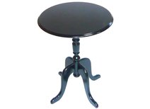Round pedestal table / side table LOUISA baroque style - colour black