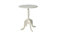 Round pedestal table / side table LOUISA baroque style - colour white