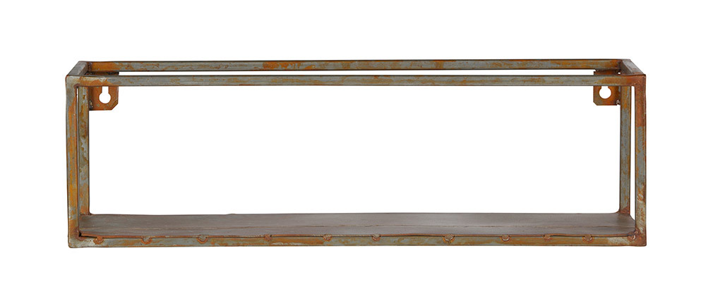 Rusted metal wall shelf 50 cm MOHO