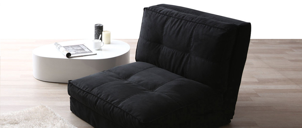 SALLY designer black chair bed
